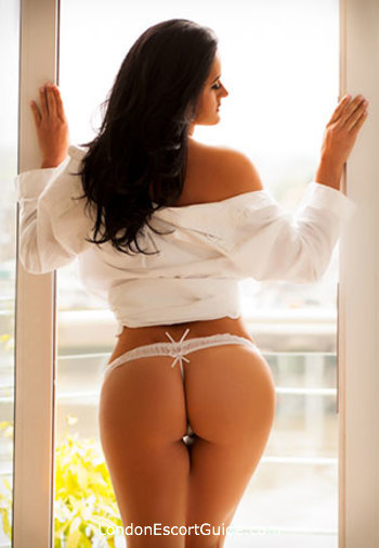 The City brunette Amira london escort