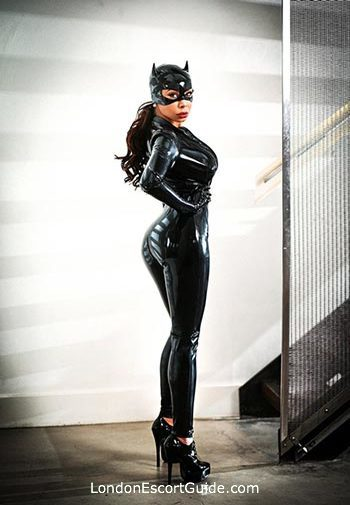 Kensington pvc-latex Mistress Carolina london escort
