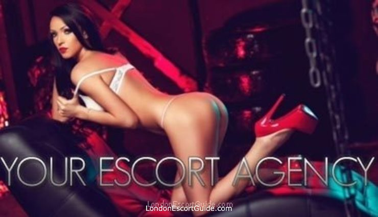 Chelsea brunette Korina london escort