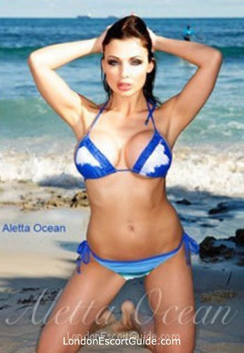 Chelsea brunette Aletta Ocean london escort