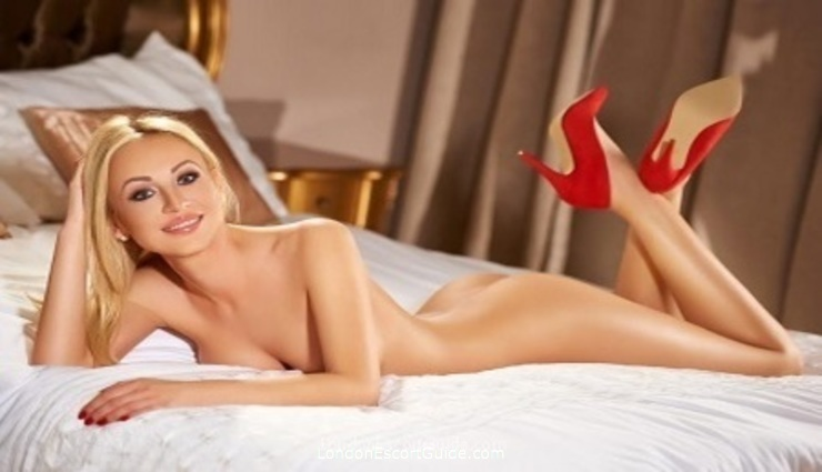 South Kensington blonde Ambra london escort
